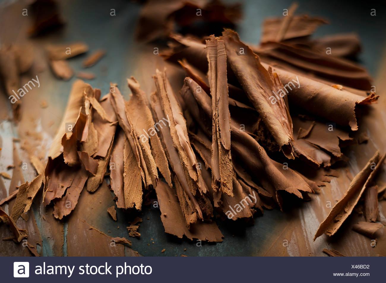 Copos de chocolate Imagen De Stock