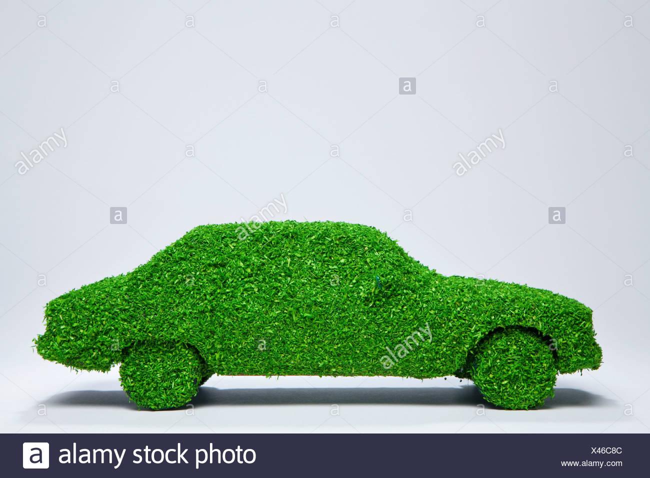 Energía verde coche. Imagen De Stock
