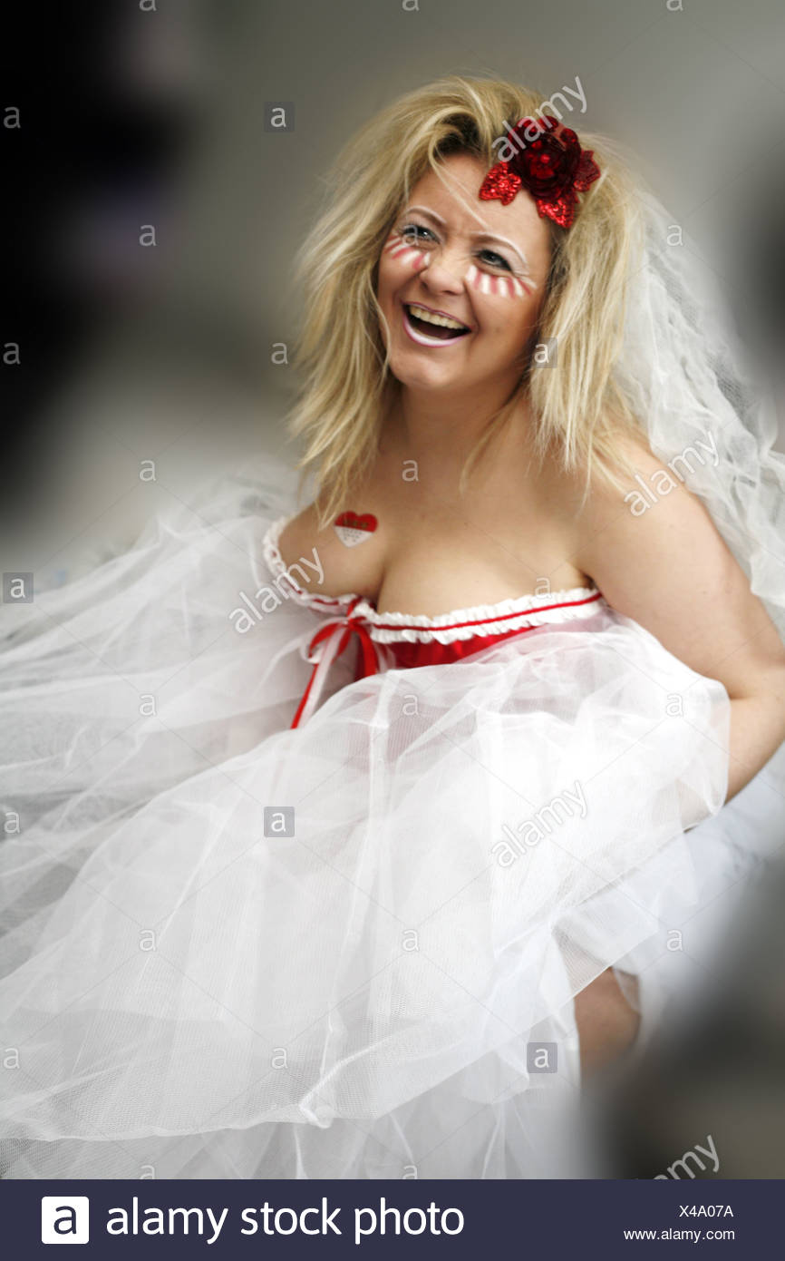 Mujer rubia, preparado para el carnaval Imagen De Stock