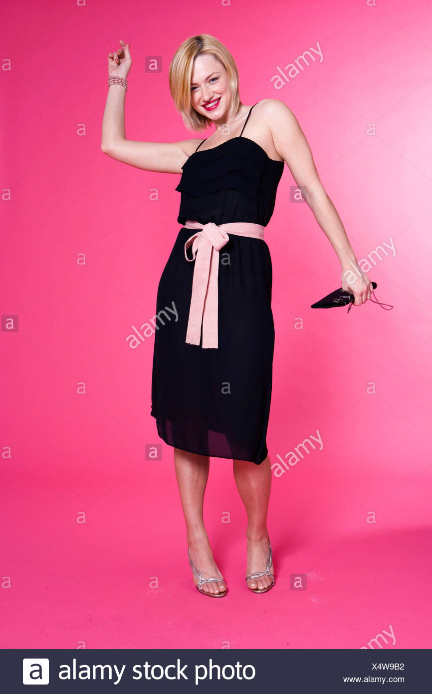 Pink Knee Length Dress Imágenes De Stock & Pink Knee Length Dress ...