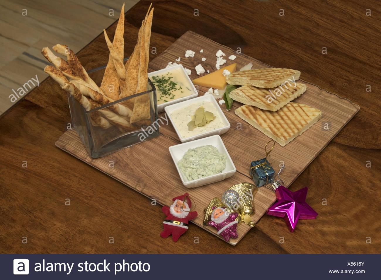 Comida italiana Mezze plato navideño Foto de stock