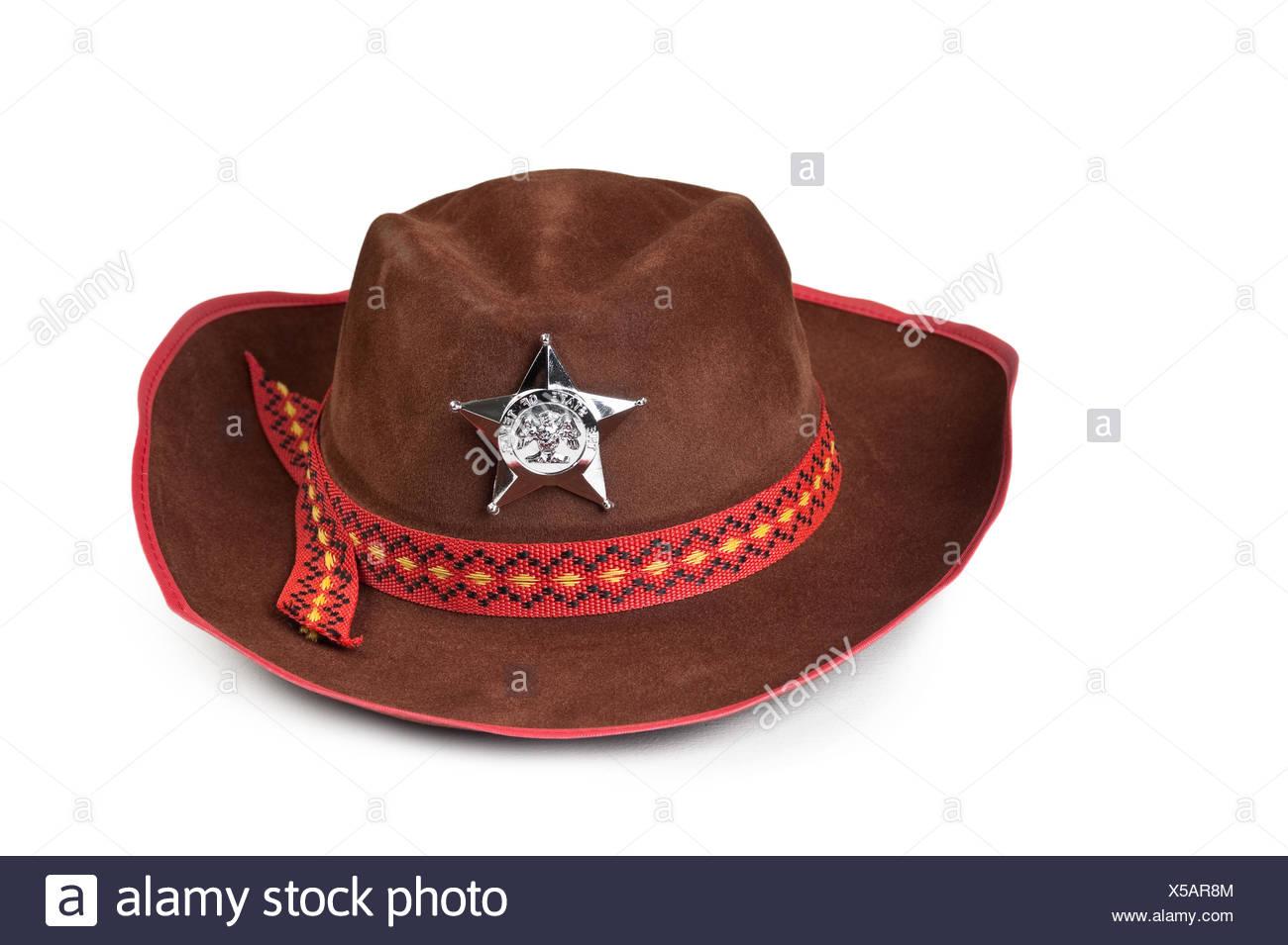 Sombrero de cowboy con la estrella del sheriff Foto   Imagen De ... a2c5a50e986