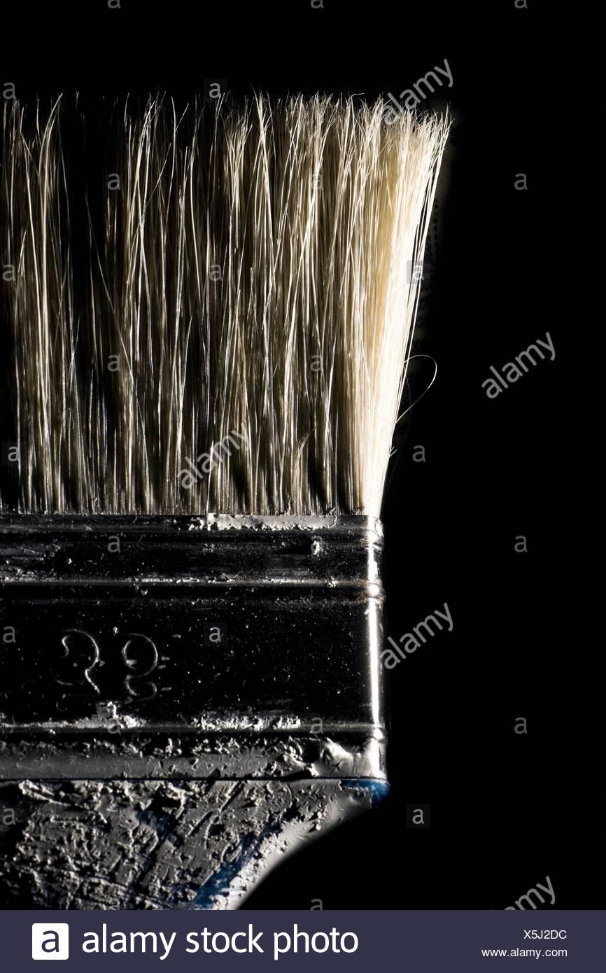 Detalle de un pincel de pintar Imagen De Stock