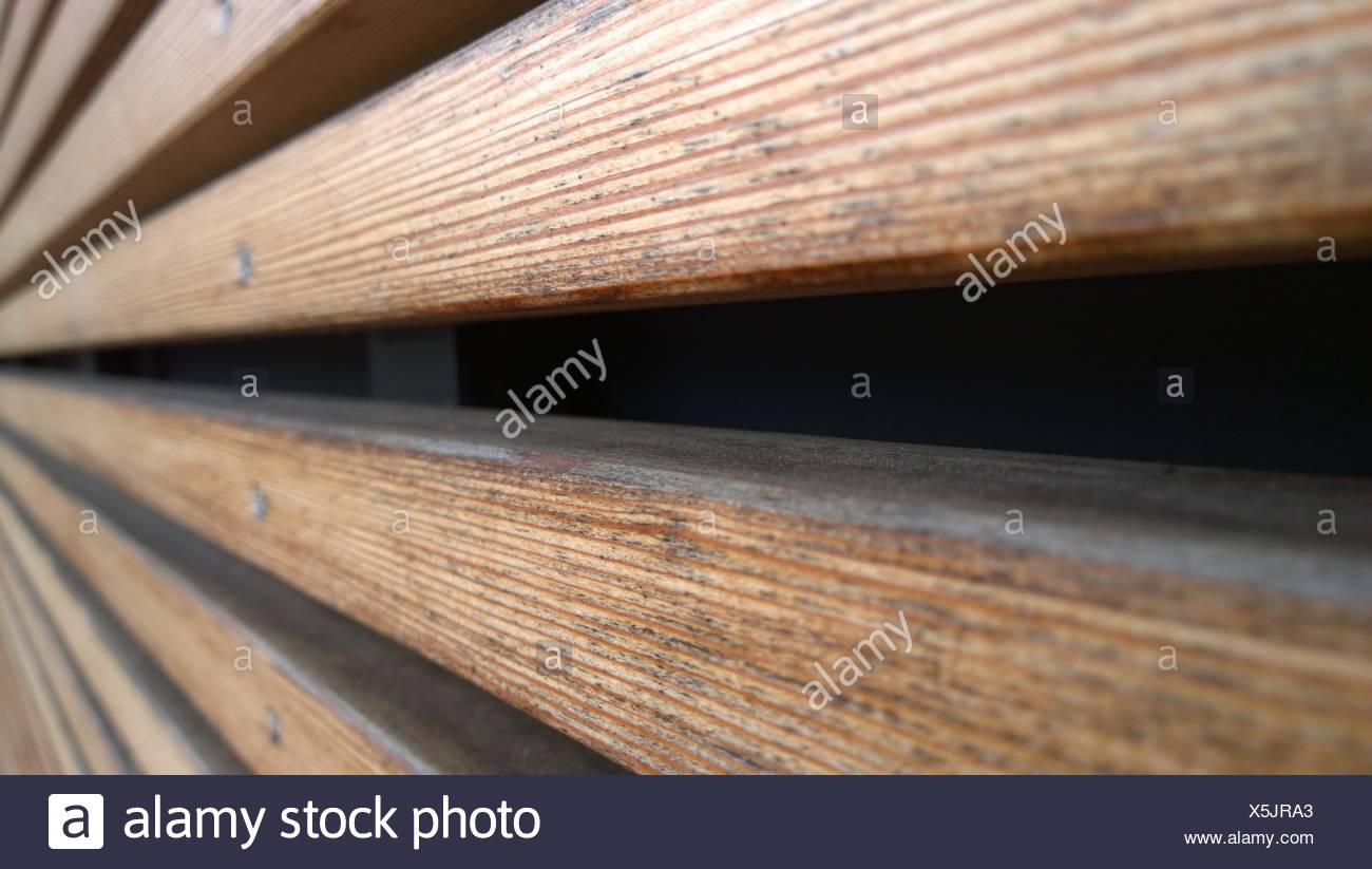 Vista en primer plano de paneles de madera Imagen De Stock