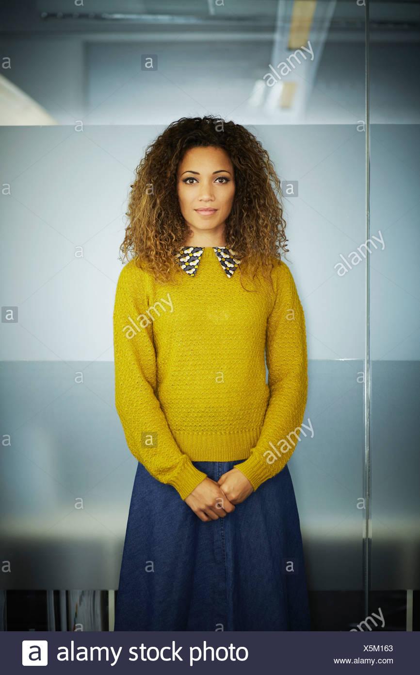 Retrato de mujer trabajador de oficina Imagen De Stock