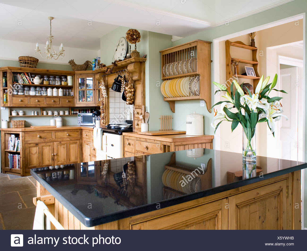Interiors Fitted Kitchen Pine Imágenes De Stock & Interiors Fitted ...