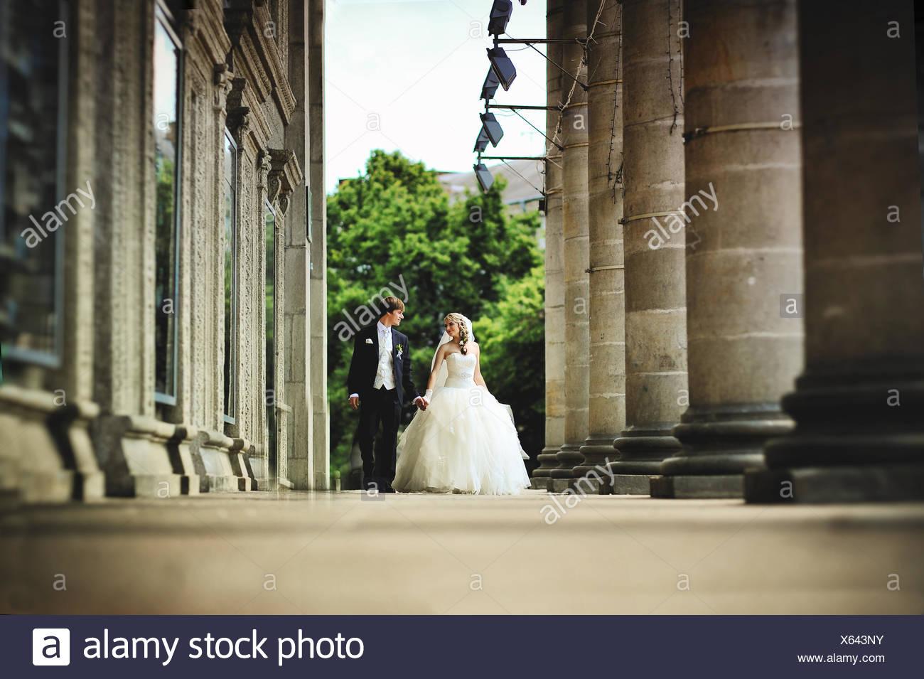 Los recién casados en el amor Imagen De Stock