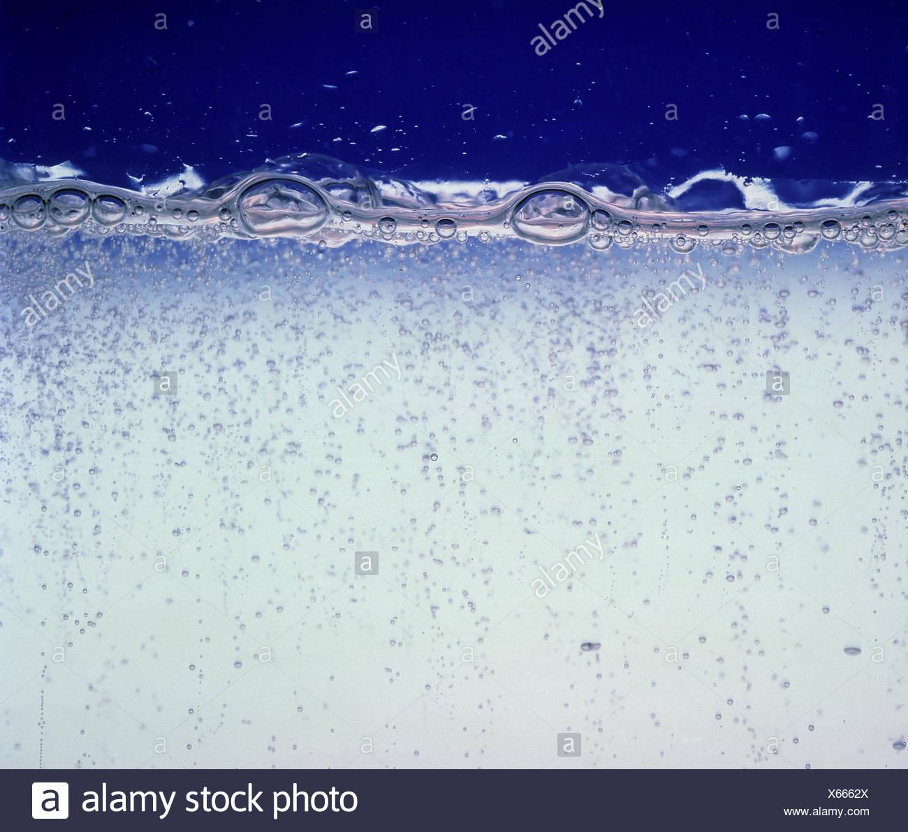 Las aguas minerales, el agua, el ácido carbónico, de burbujas, de beber, anti-alcohólico, libre de alcohol, proximidad, Imagen De Stock