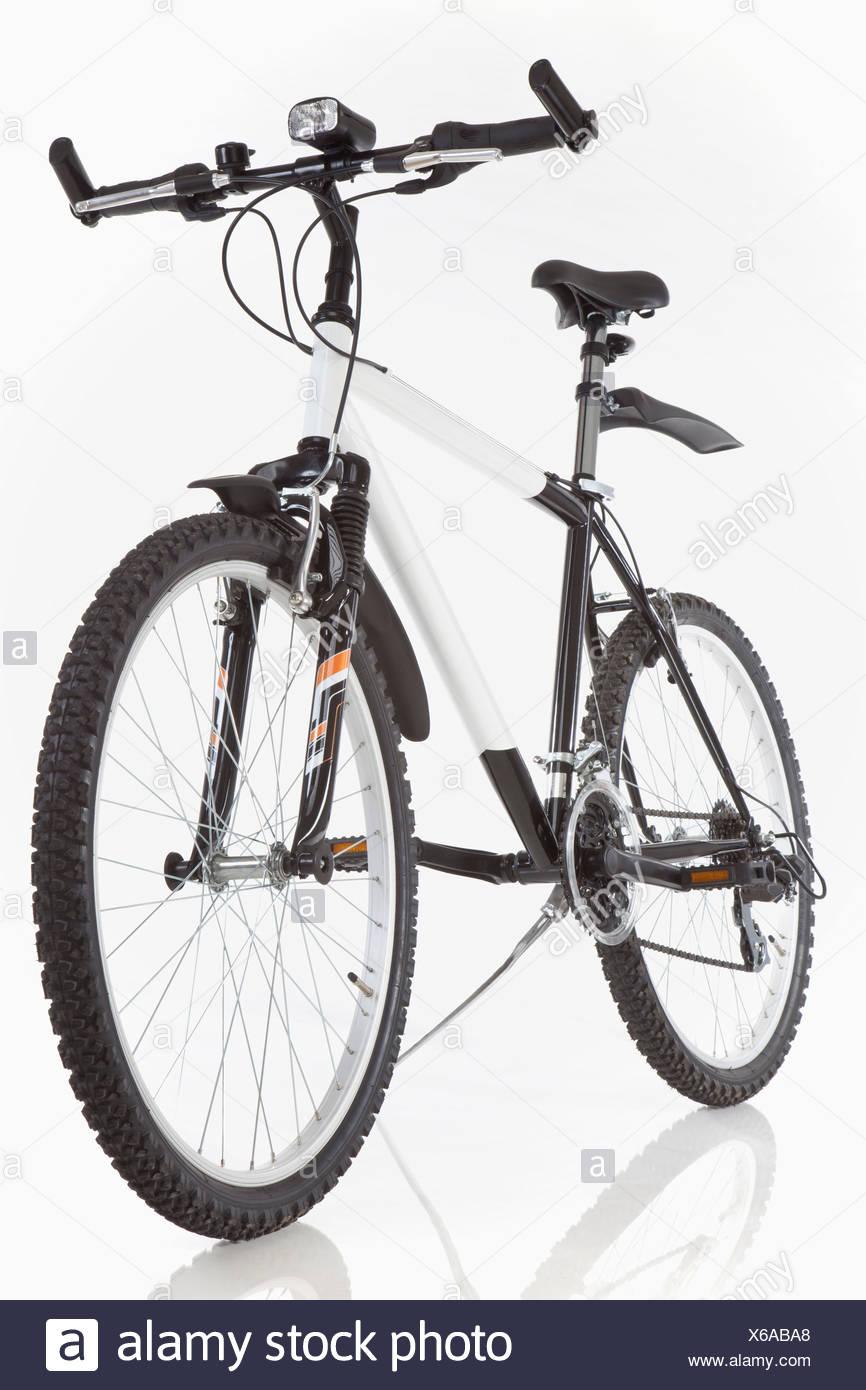 Mountain bike sobre fondo blanco. Imagen De Stock
