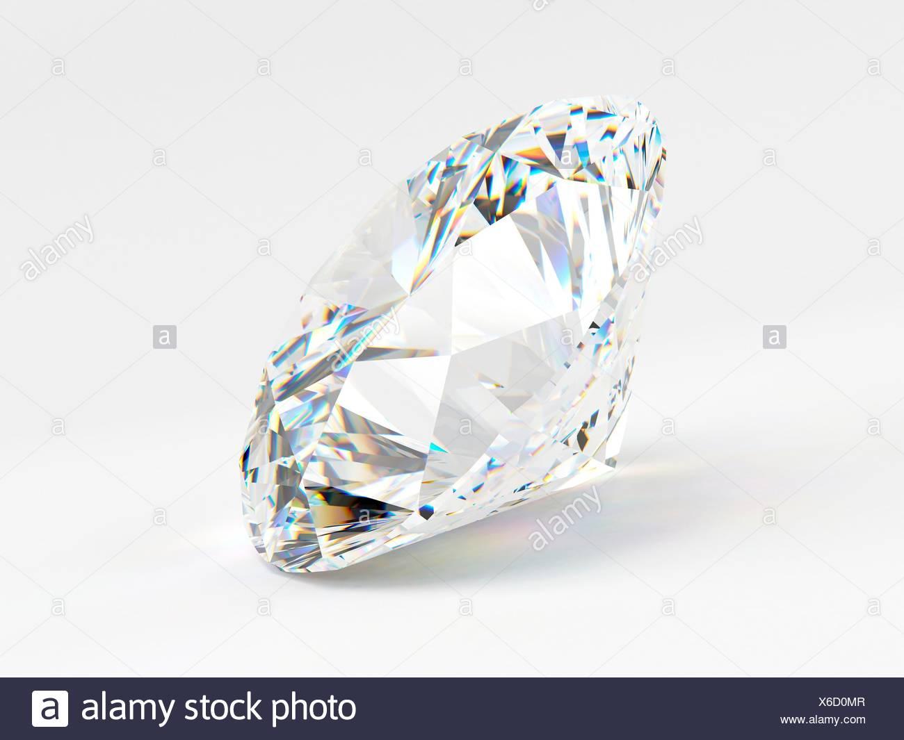 c935328cb123 Diamante Sobre Fondo Blanco Imágenes De Stock   Diamante Sobre Fondo ...