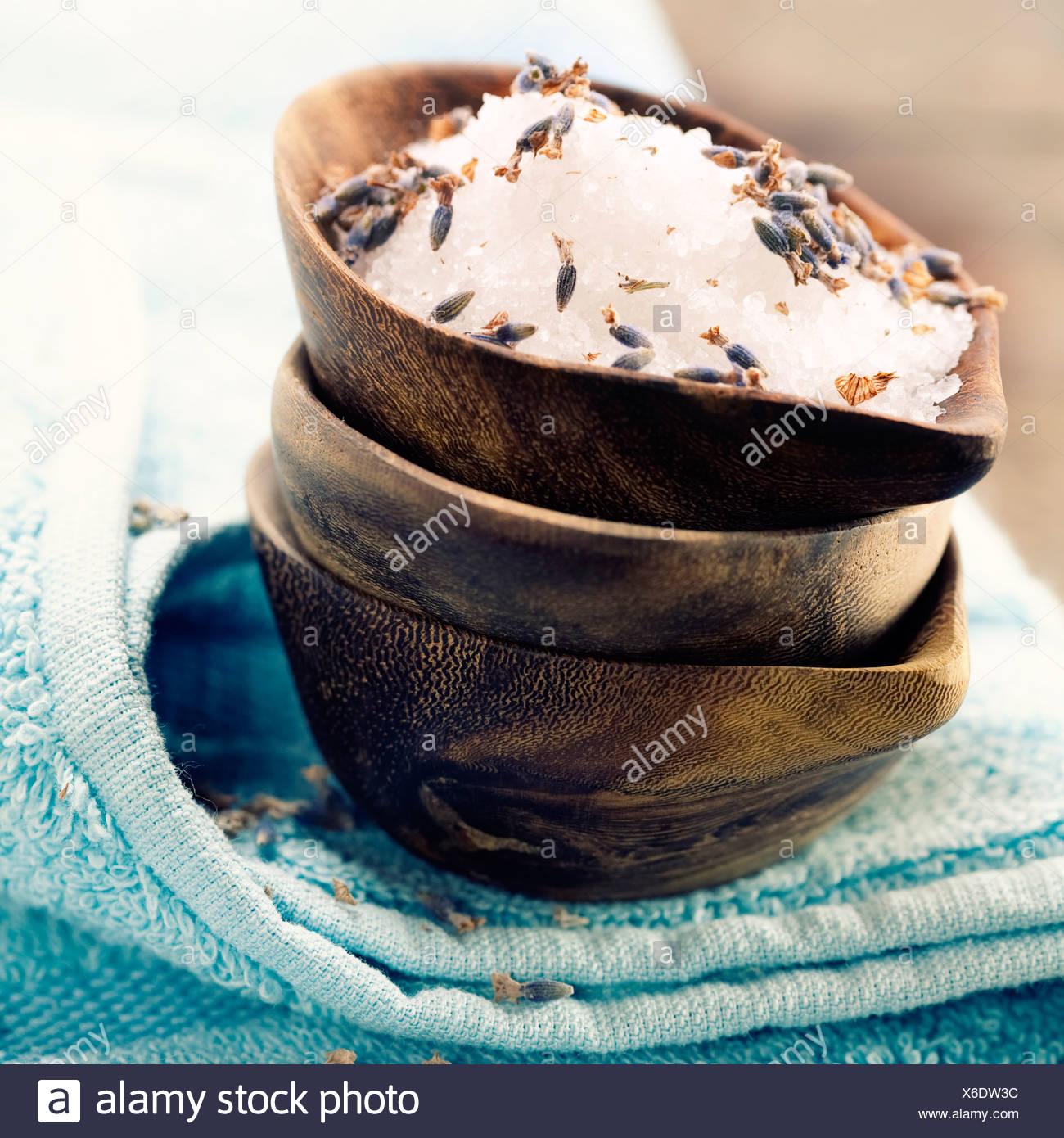 Sal de Spa (spa y de cuidado corporal) de fondo Imagen De Stock