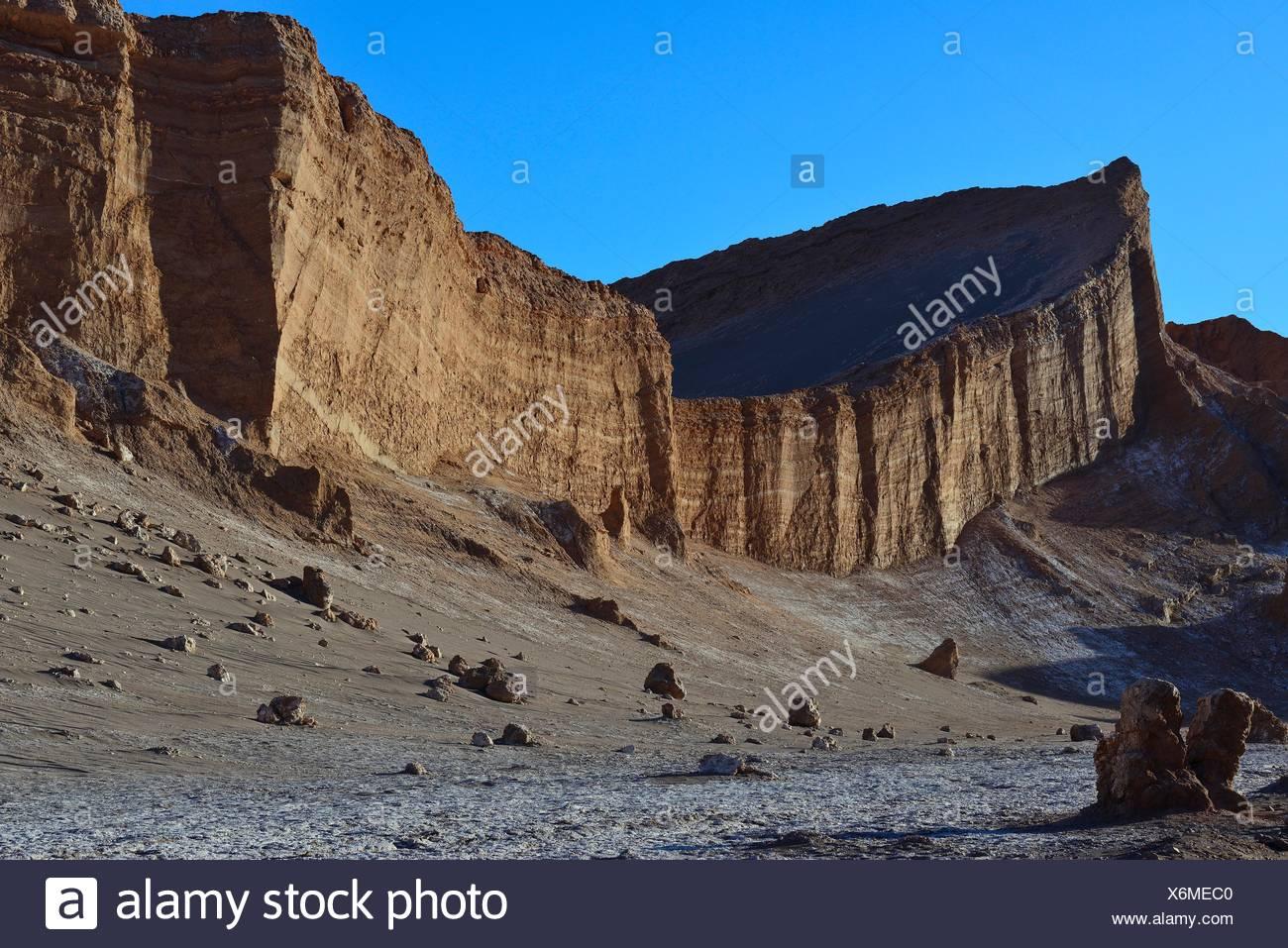 Cara de la roca en el Valle de la Luna, Valle de la Luna, San Pedro de Atacama, Antofagasta, Chile Imagen De Stock