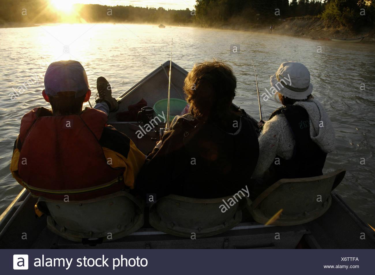 Viaje de pesca en Kenai Imagen De Stock