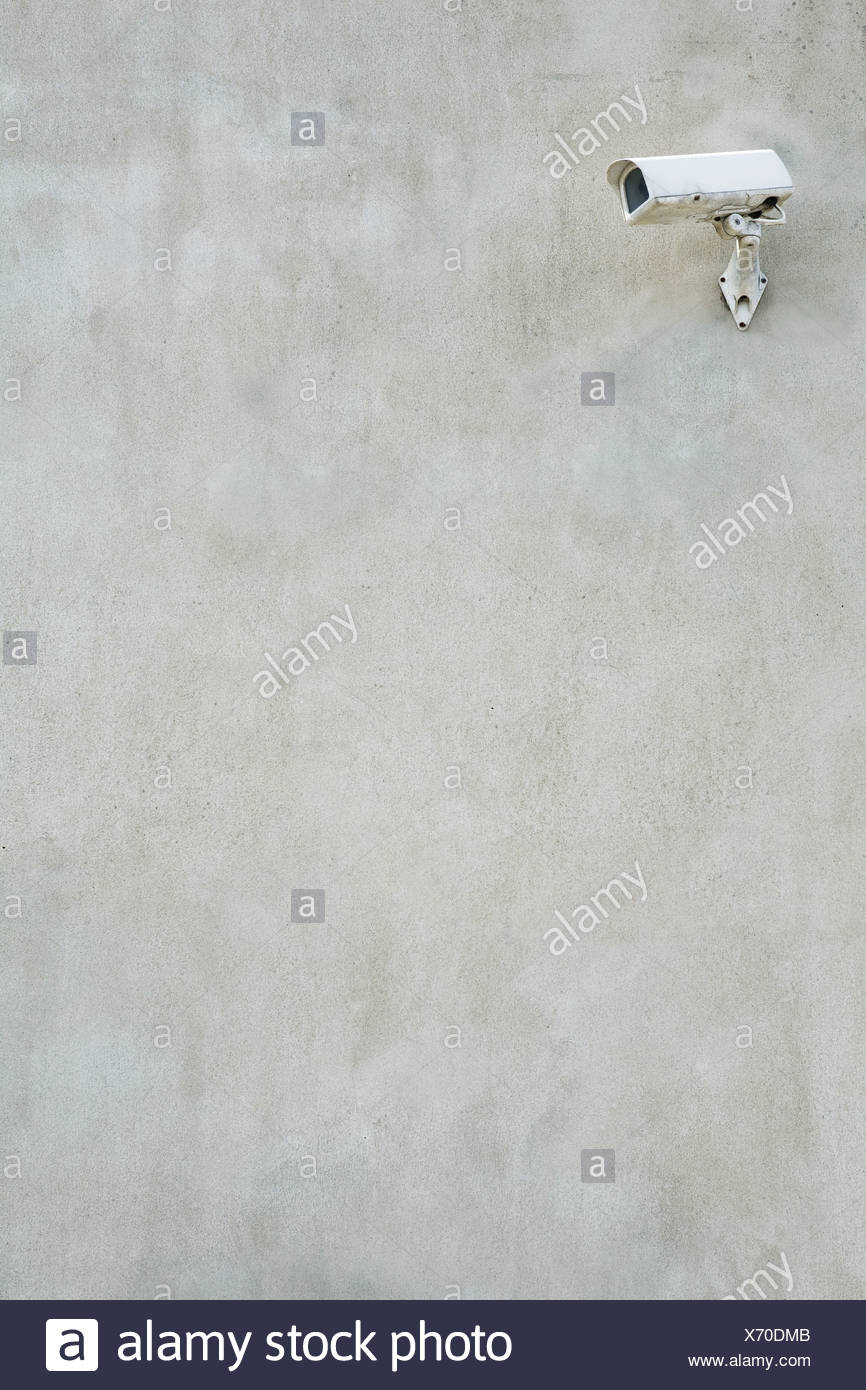 Cámara CCTV en la pared Imagen De Stock