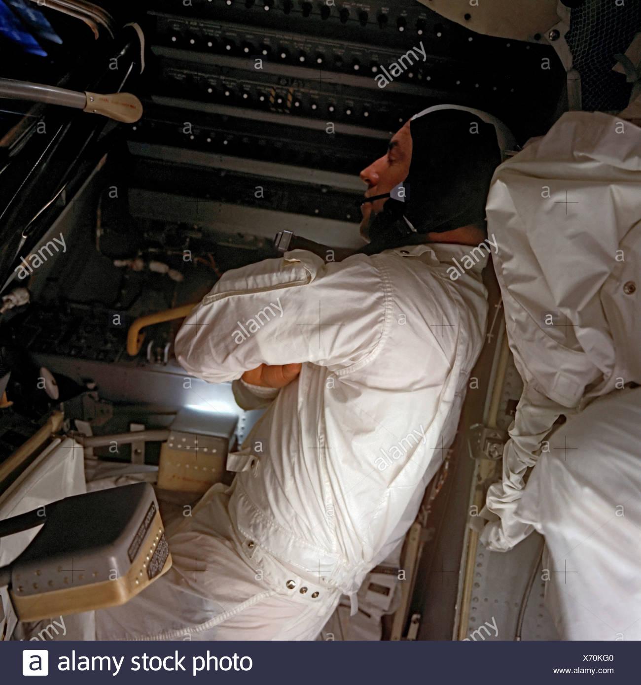 Apollo 13 - Un astronauta duerme Imagen De Stock