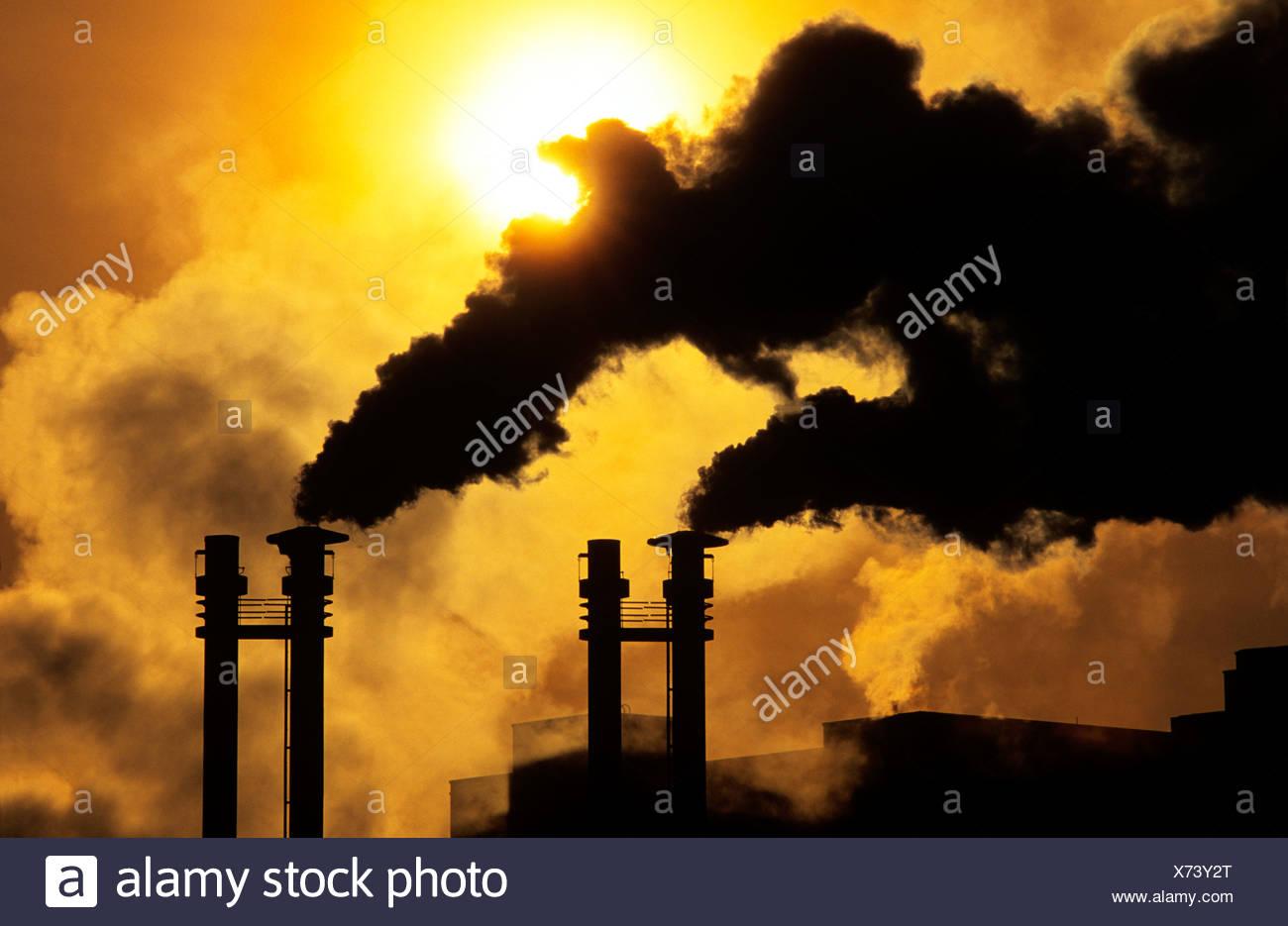La contaminación del aire, Canadá. Imagen De Stock