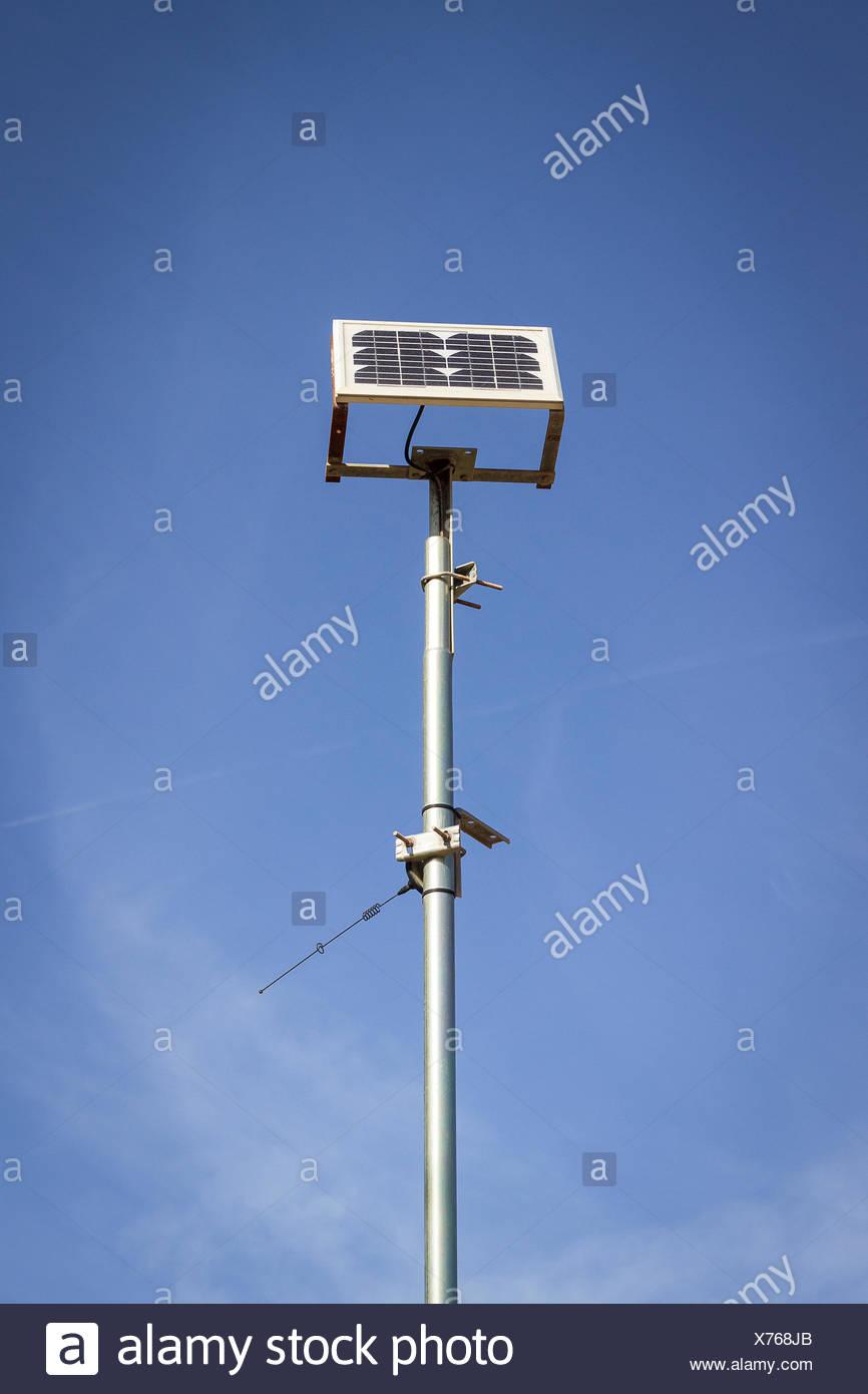 España Formentera células solares en frente del cielo Imagen De Stock
