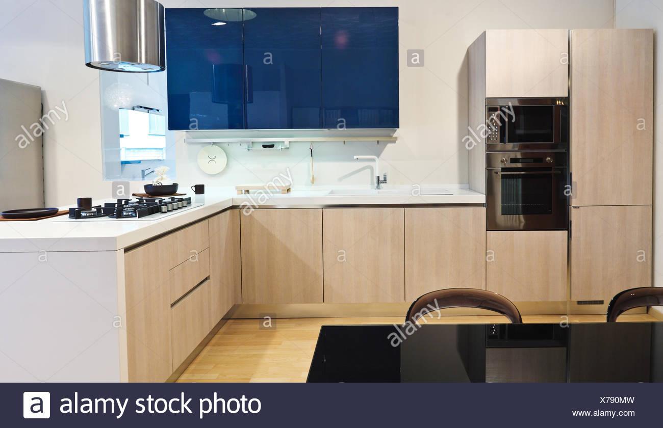 cocina moderna Foto de stock