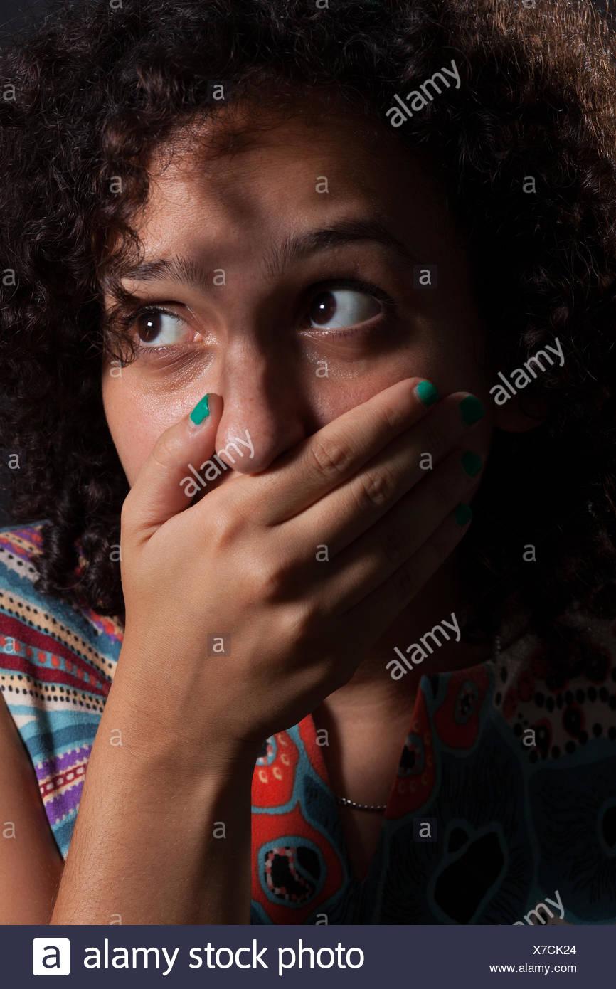 Testigo de miedo Foto de stock