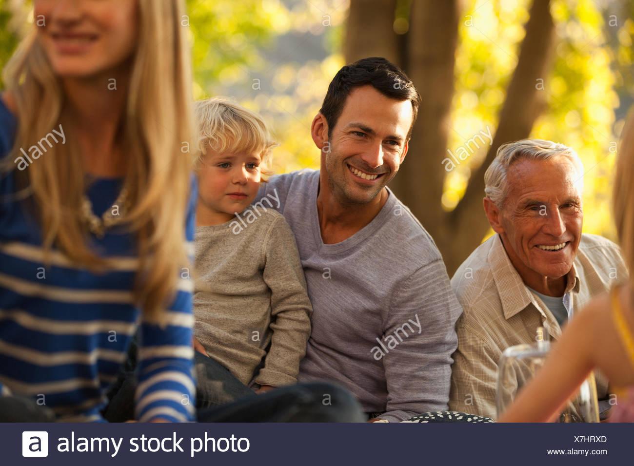 Tres generaciones de la familia Imagen De Stock