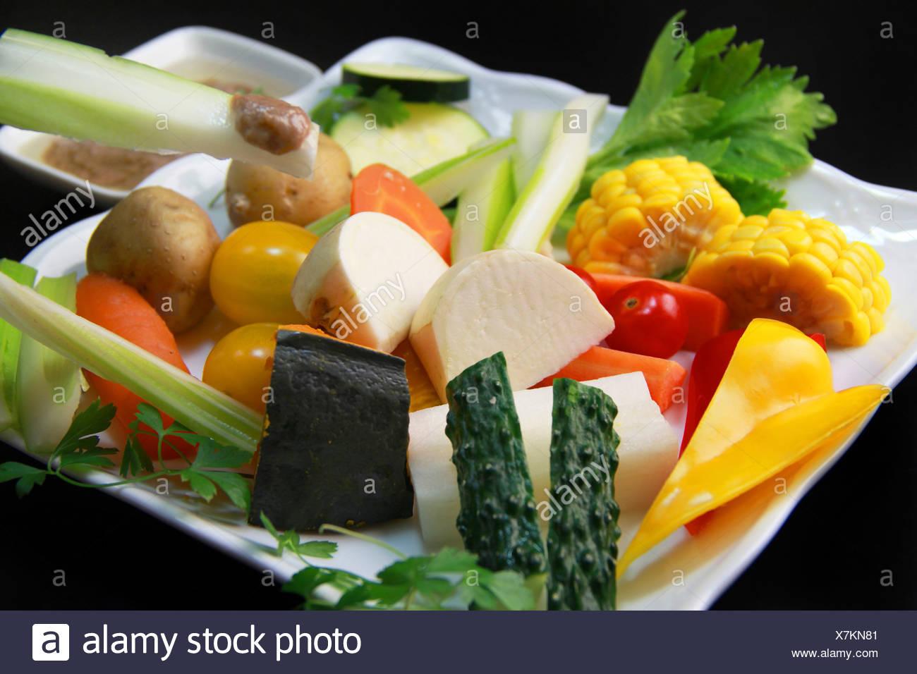 Bagna cauda vegetales asados y pan casero cómo como