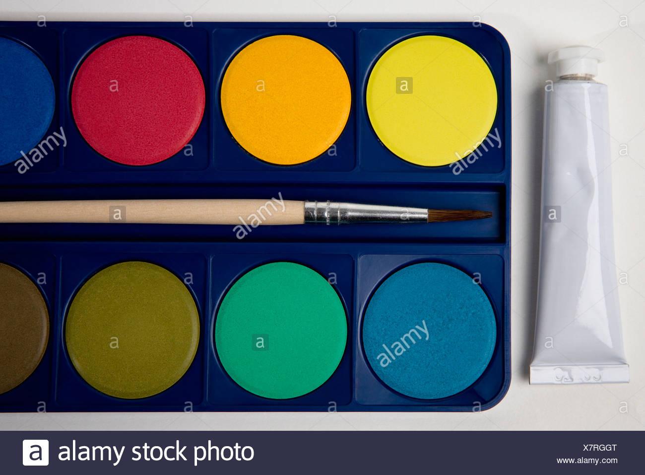 Pinturas de acuarelas Imagen De Stock