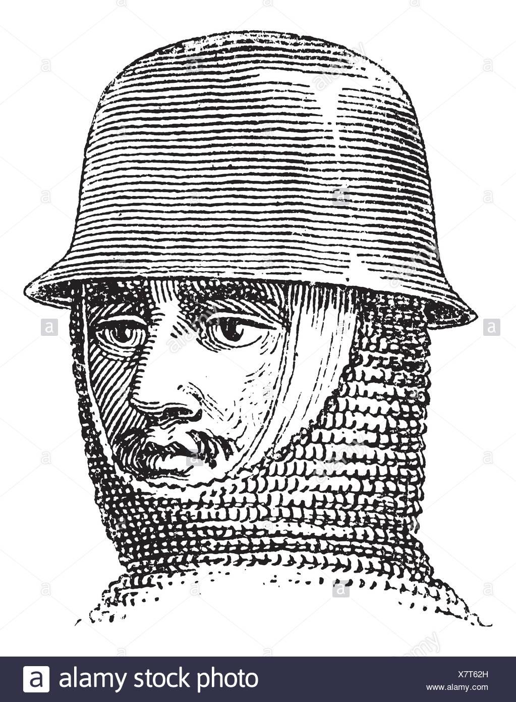 a4b3aa103cce2 Sombrero de hierro o hervidor sombrero o casco o galea vintage antiguo  grabado ilustración grabada de hierro hat