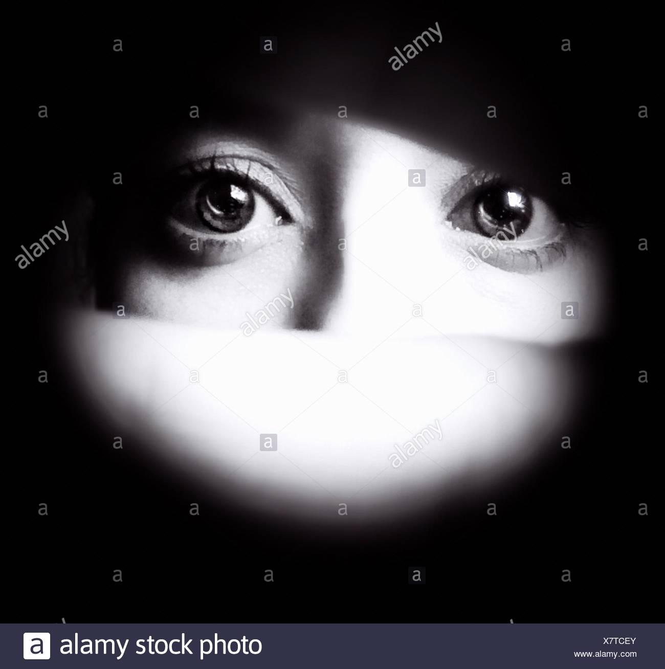 Detalle de los ojos humanos Imagen De Stock