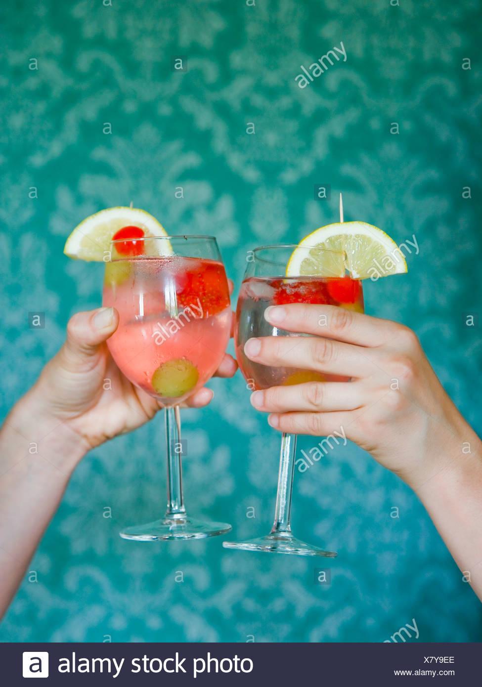 Dos cóctel de bebidas Imagen De Stock