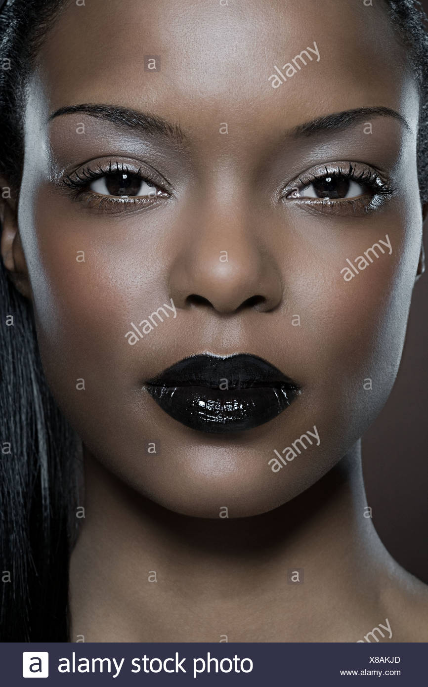 Rostro de una mujer joven Imagen De Stock