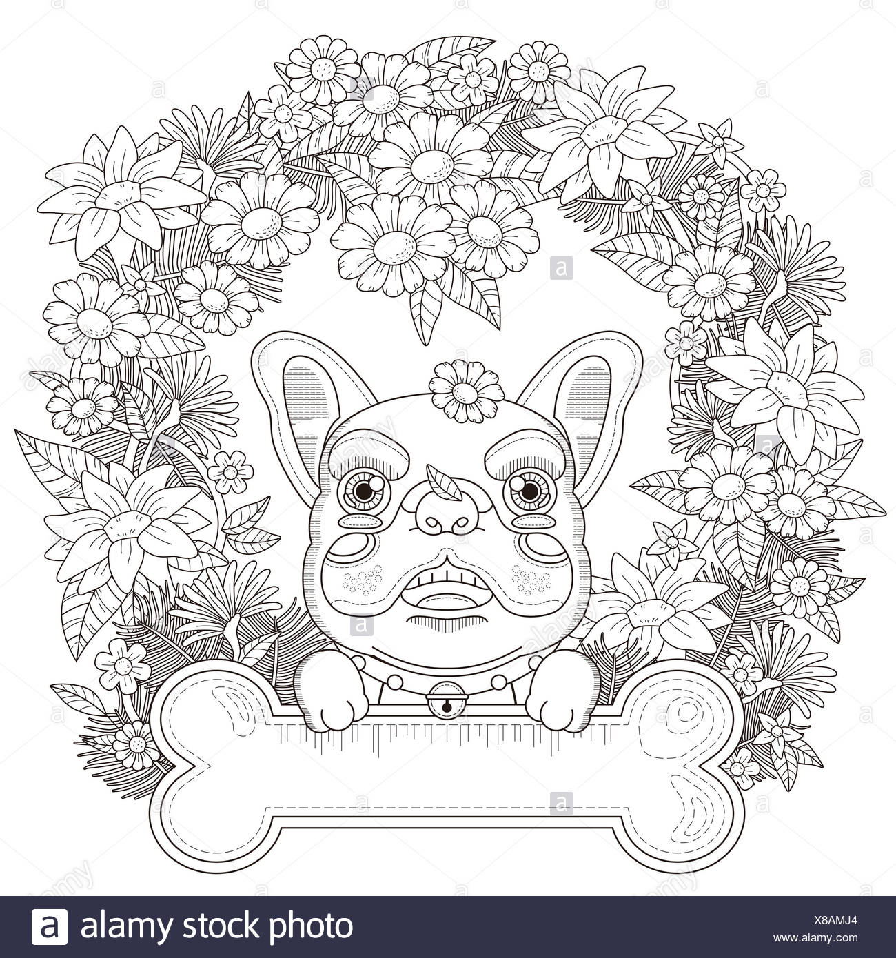 Encantador Páginas Para Colorear De Baby Bulldog Ilustración - Ideas ...