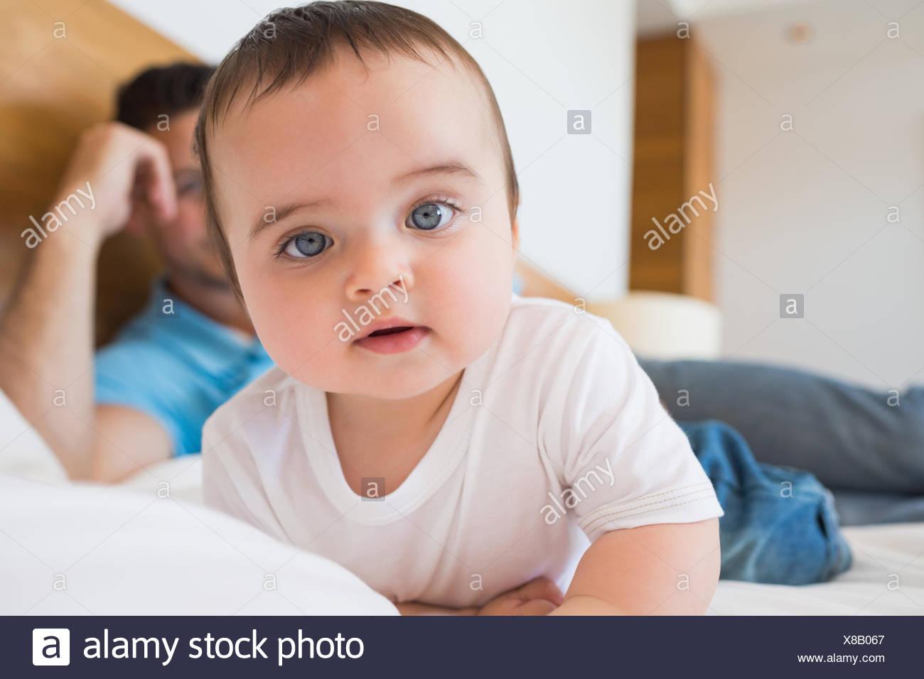 Retrato del bebé inocente Imagen De Stock