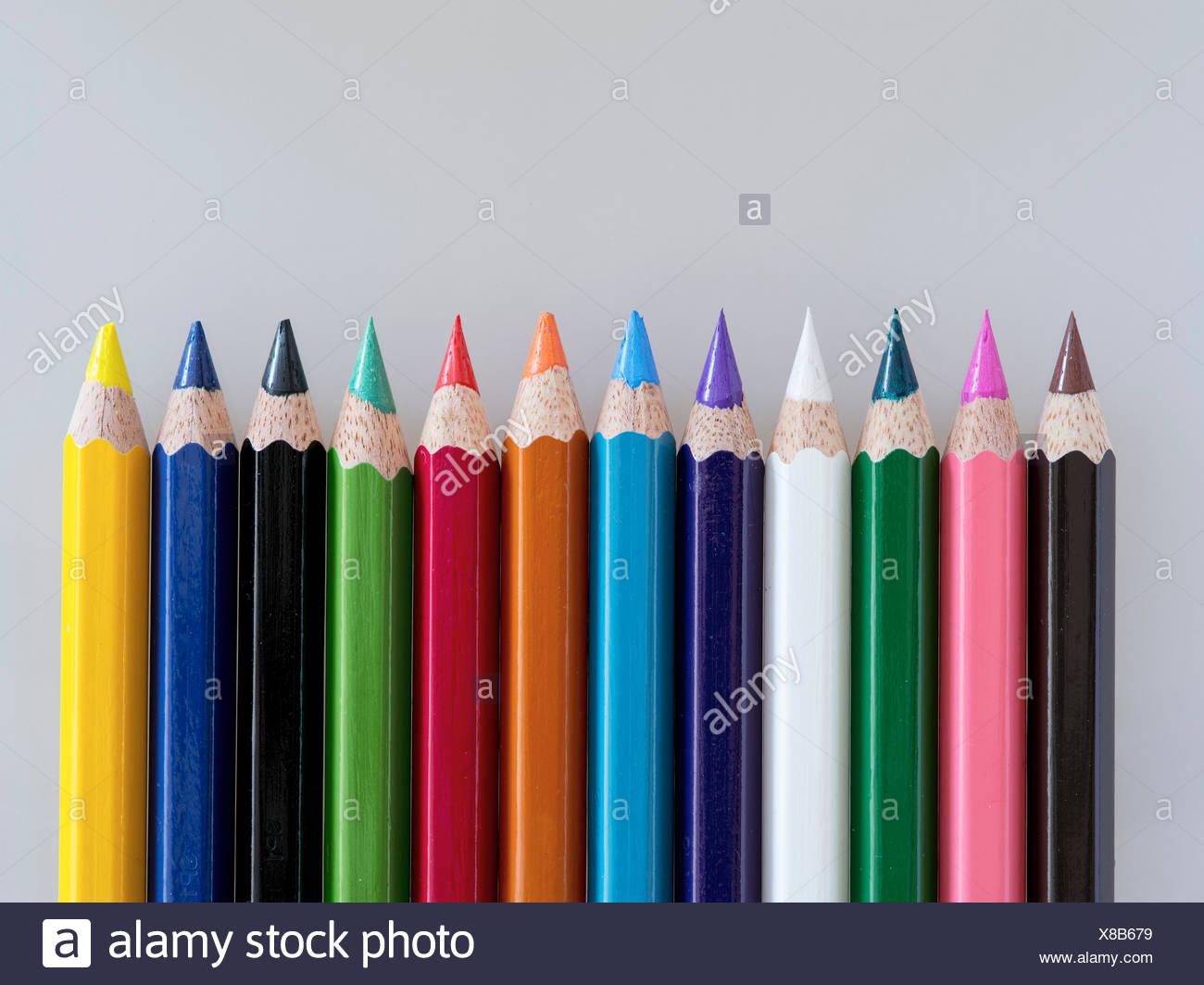 Foto de estudio de lápices de colores Imagen De Stock