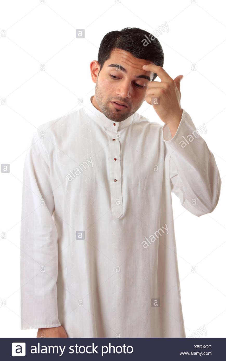 Hombre De Negocios De Raza Mixta árabe Vistiendo El