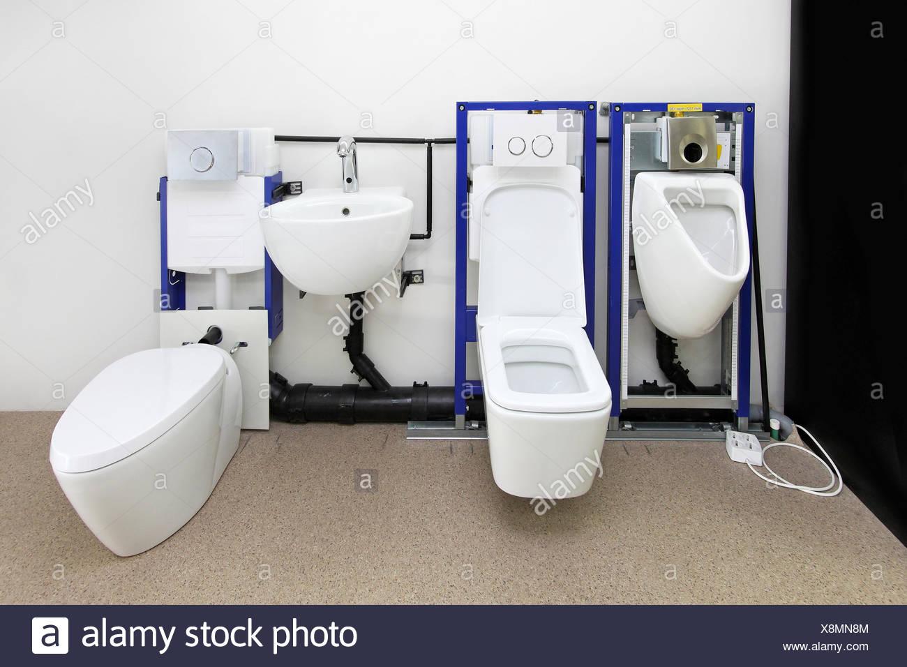 Wc, accesorios, cuarto de baño, construcción, fregadero ...