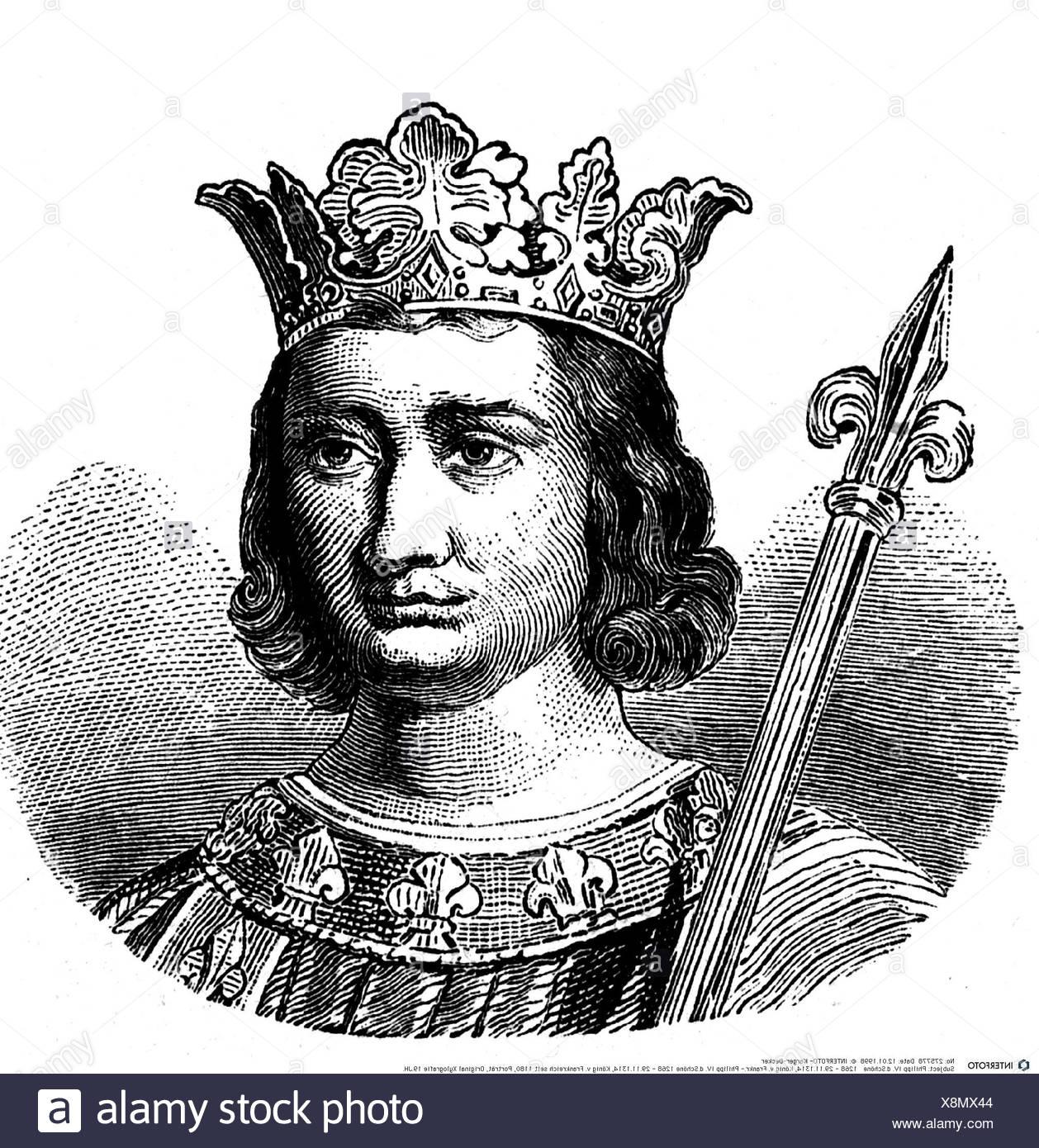 Felipe IV el Hermoso, 1268 - 29.11.1314, rey de Francia 6.8.1285 ...