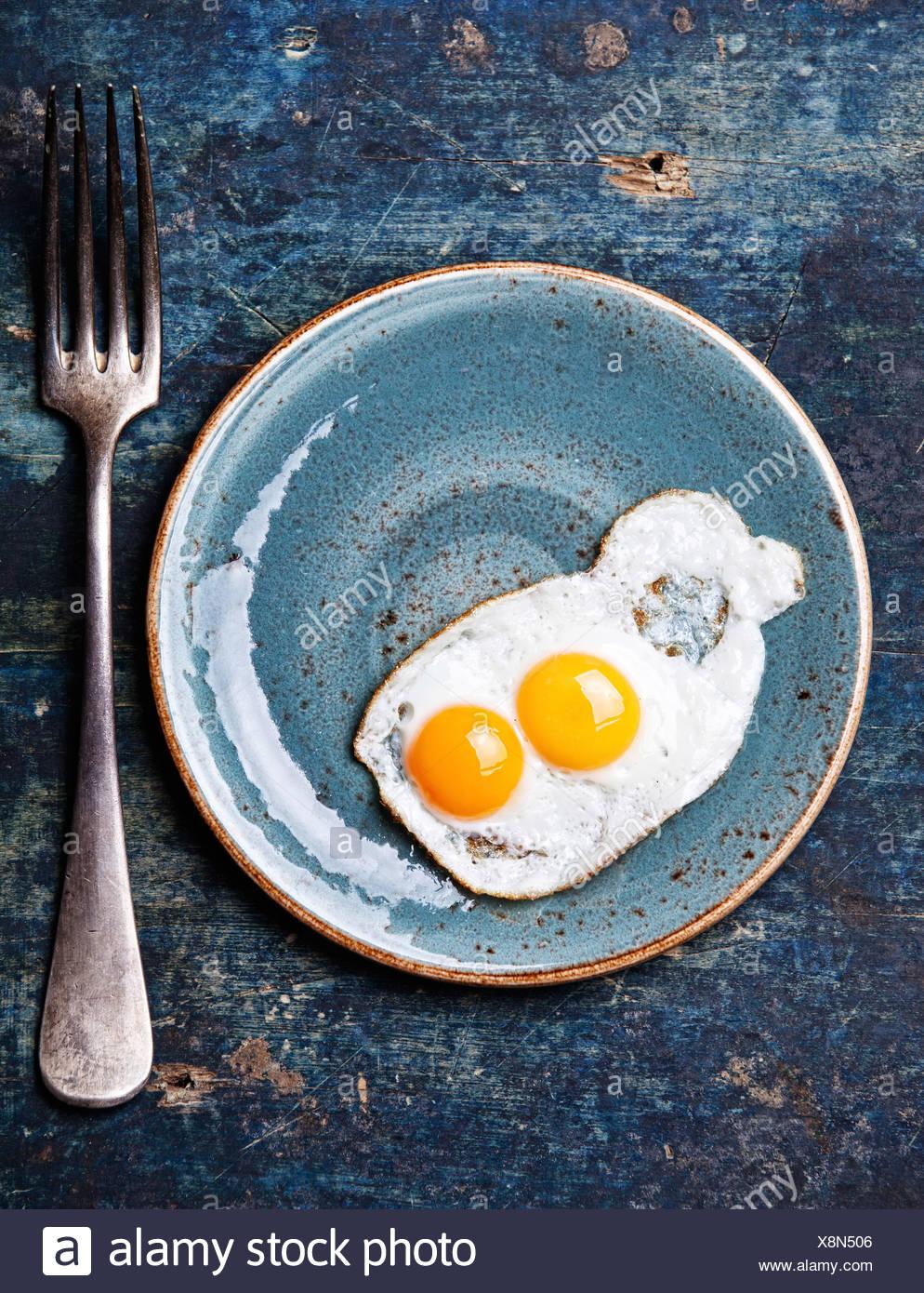Desayuno tradicional huevos Imagen De Stock