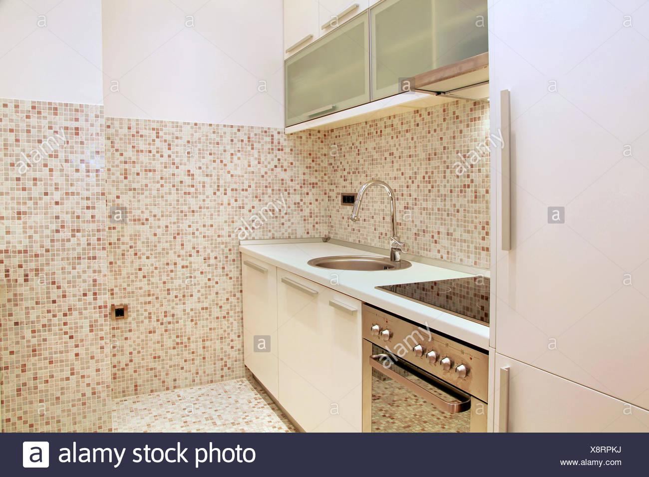 Azulejos de mosaico cocina Fotografía de stock - Alamy