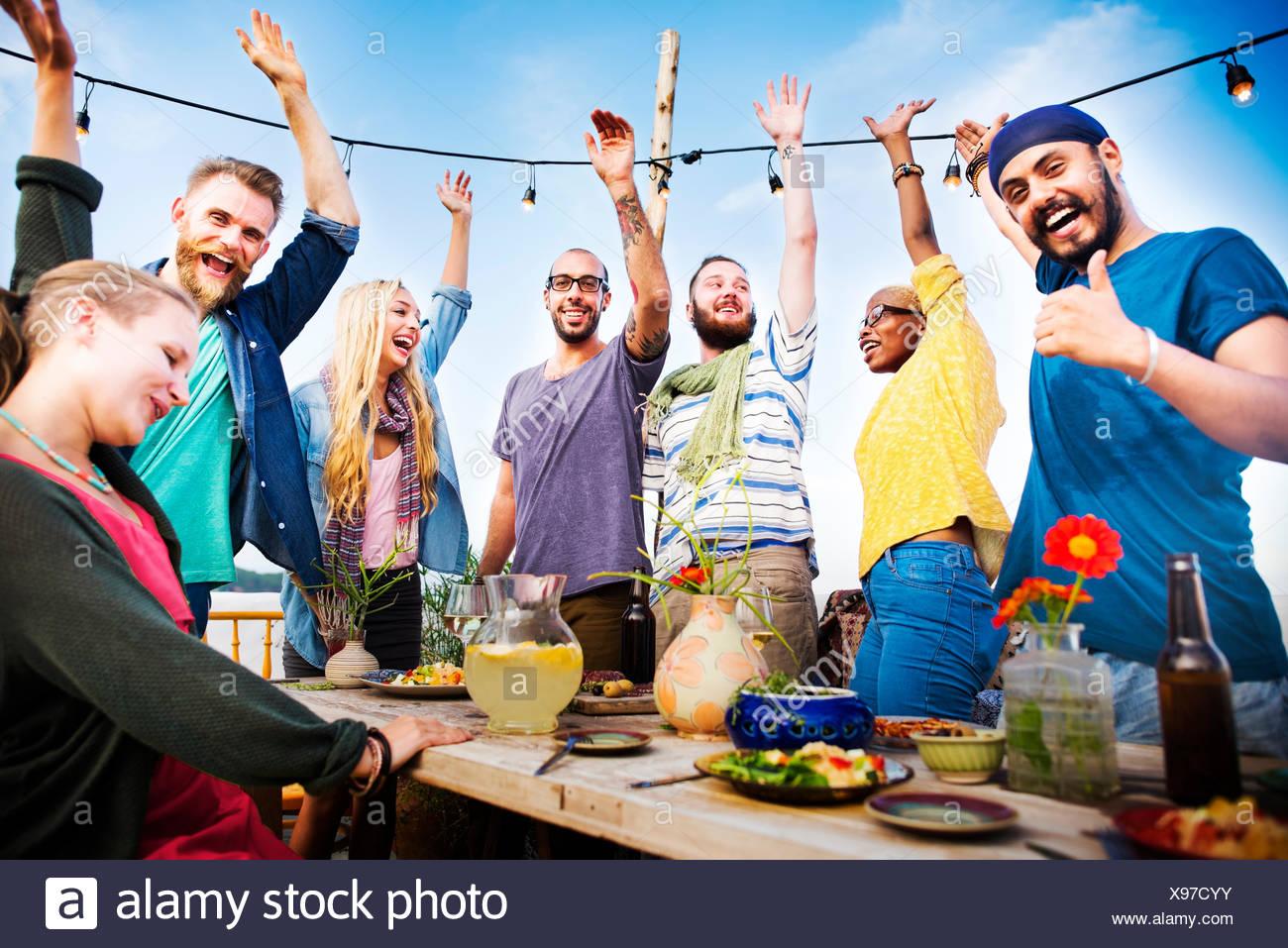 Playa de verano Cena celebración concepto Imagen De Stock