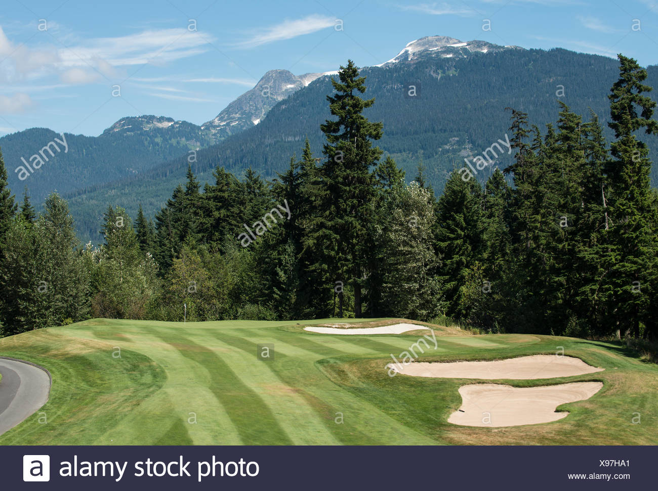 Chateau Whistler Golf Club, Whistler, British Columbia, Canadá Foto de stock