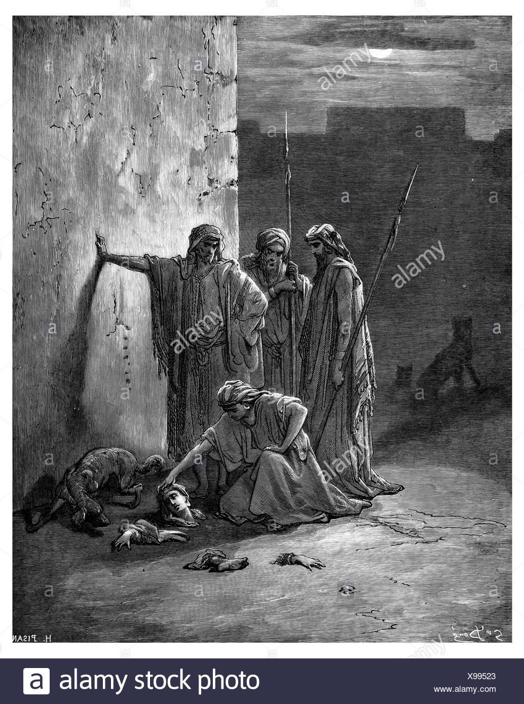 Los camaradas Jehn s restos hallados en Jezabel Imagen De Stock