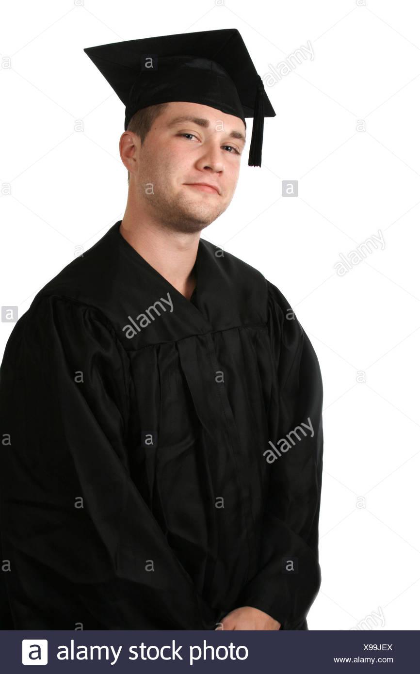 8942b1703 Un hombre en una toga y birrete de graduación Foto   Imagen De Stock ...