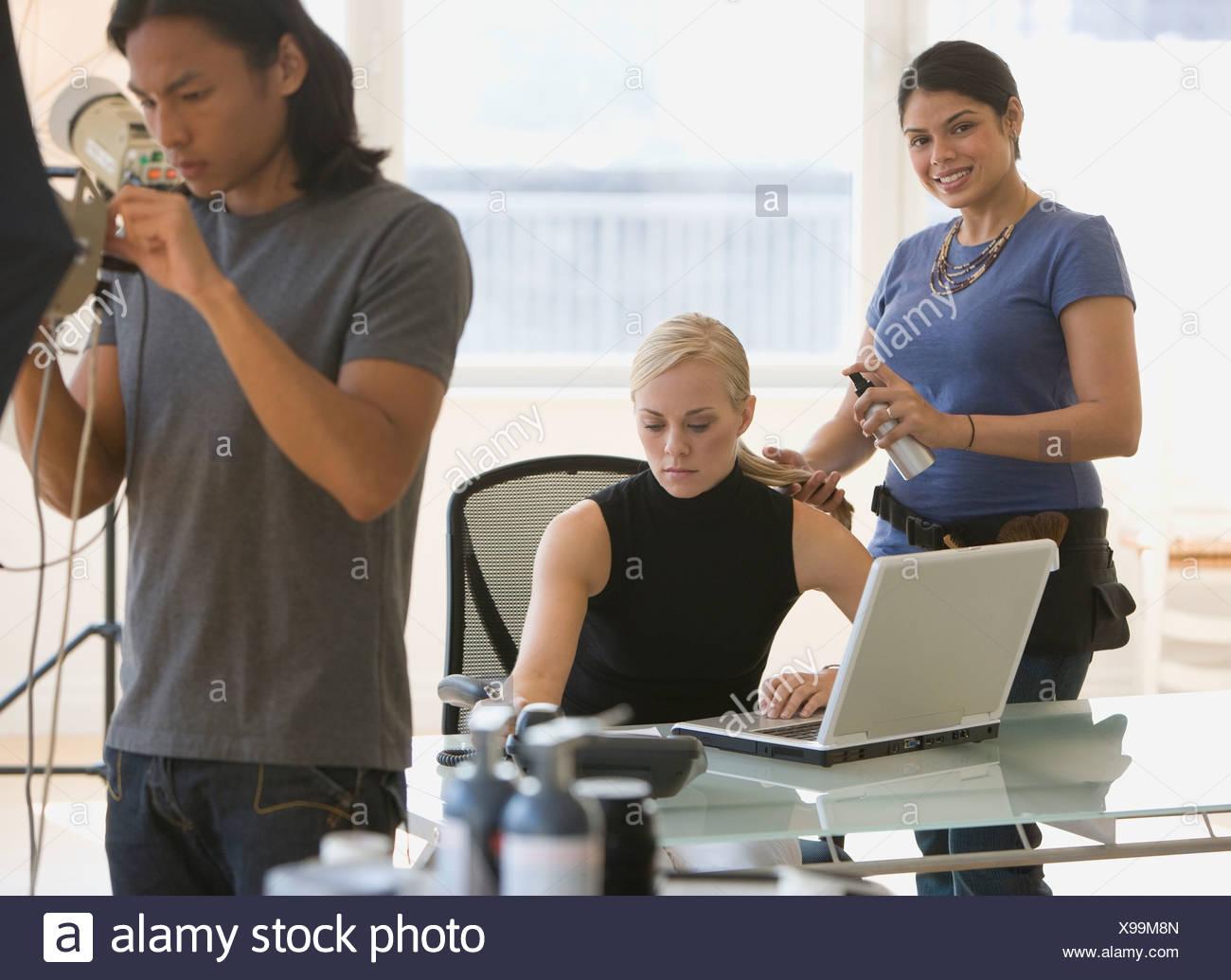 Fotos en estudio de negocios Imagen De Stock