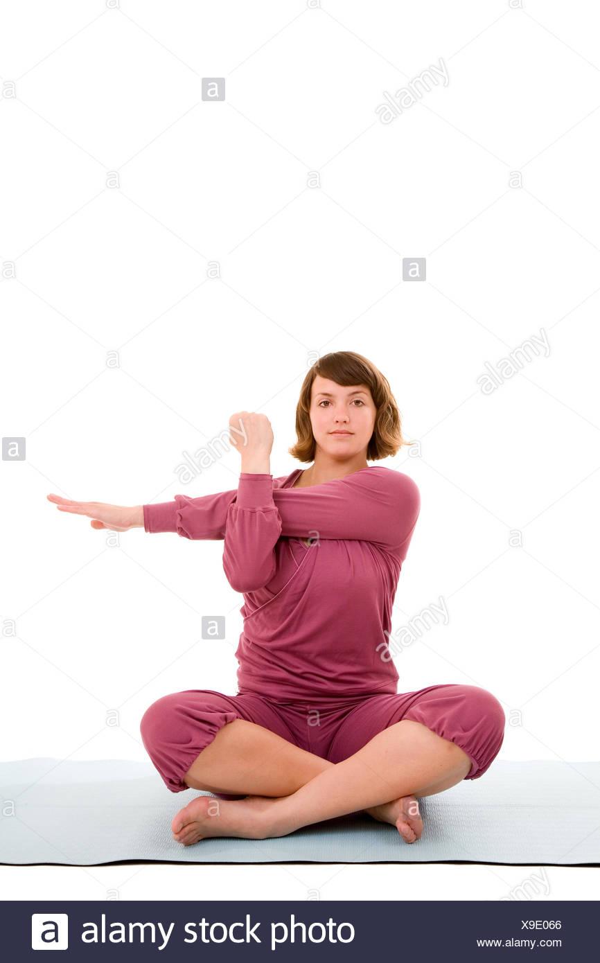Triceps Stretch Imágenes De Stock & Triceps Stretch Fotos De Stock ...