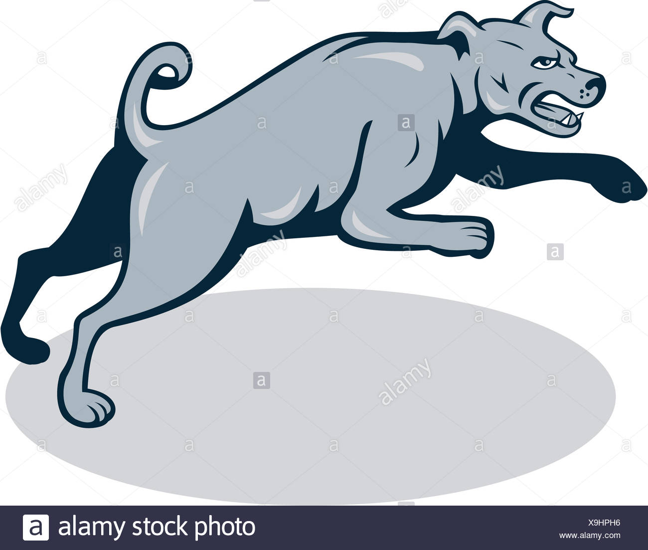 Barking Dog Cartoon Illustration Imágenes De Stock Barking