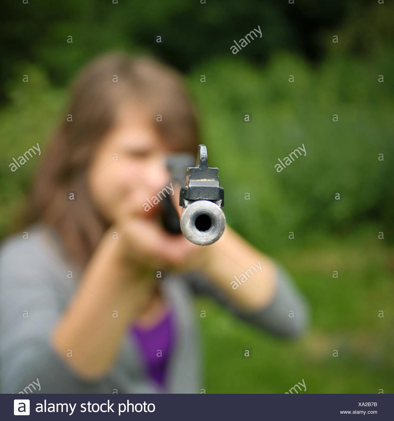 ,Amenazan,armados de fusil Imagen De Stock