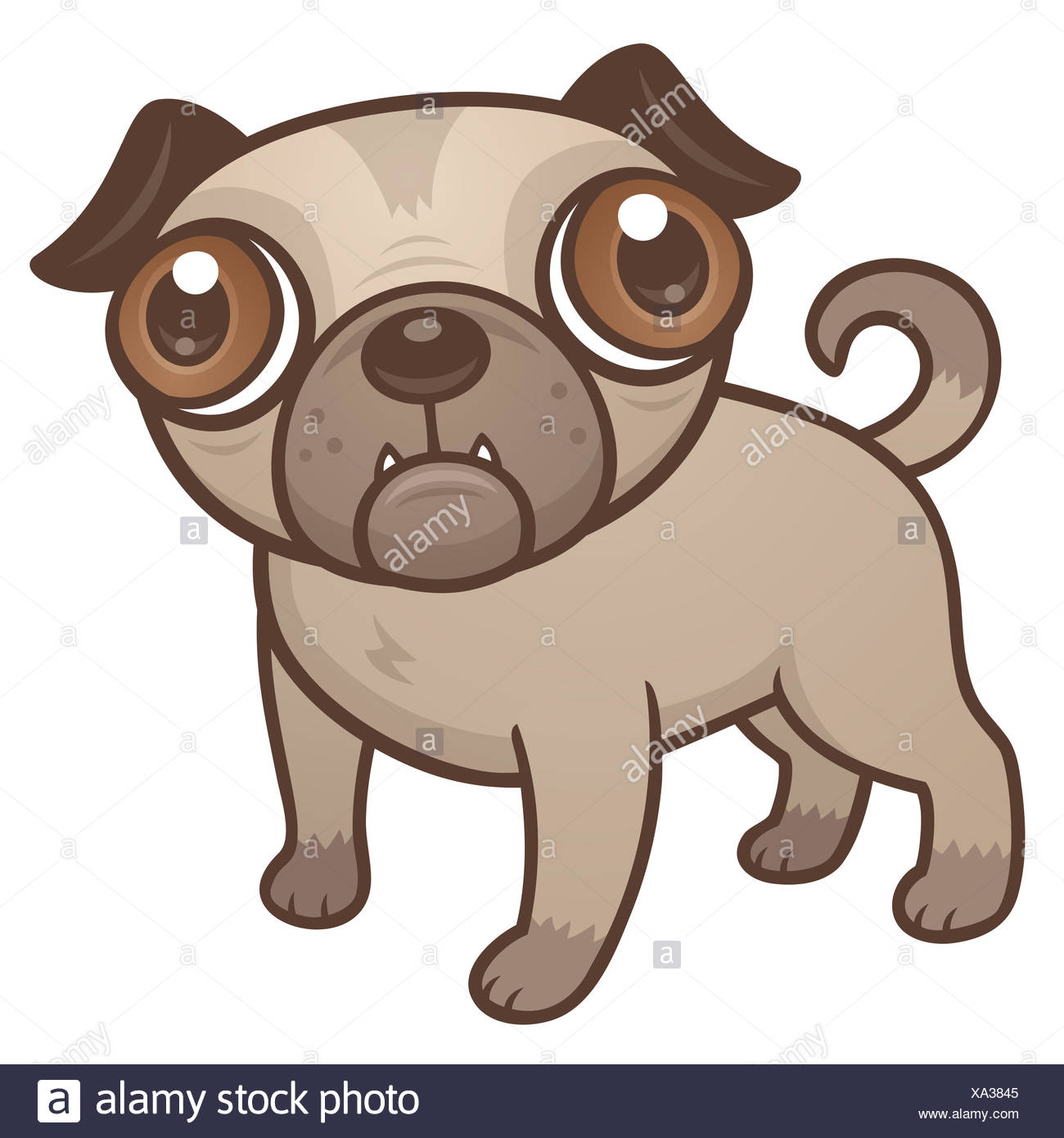 Pug Drawing Imágenes De Stock & Pug Drawing Fotos De Stock - Alamy