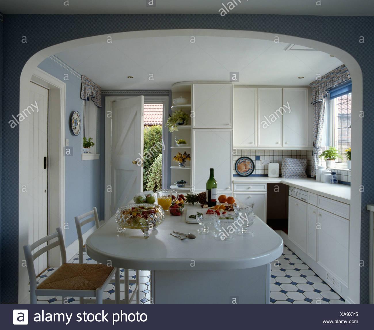 Lujo Paredes De La Cocina Azules Ornamento - Ideas de Decoración de ...