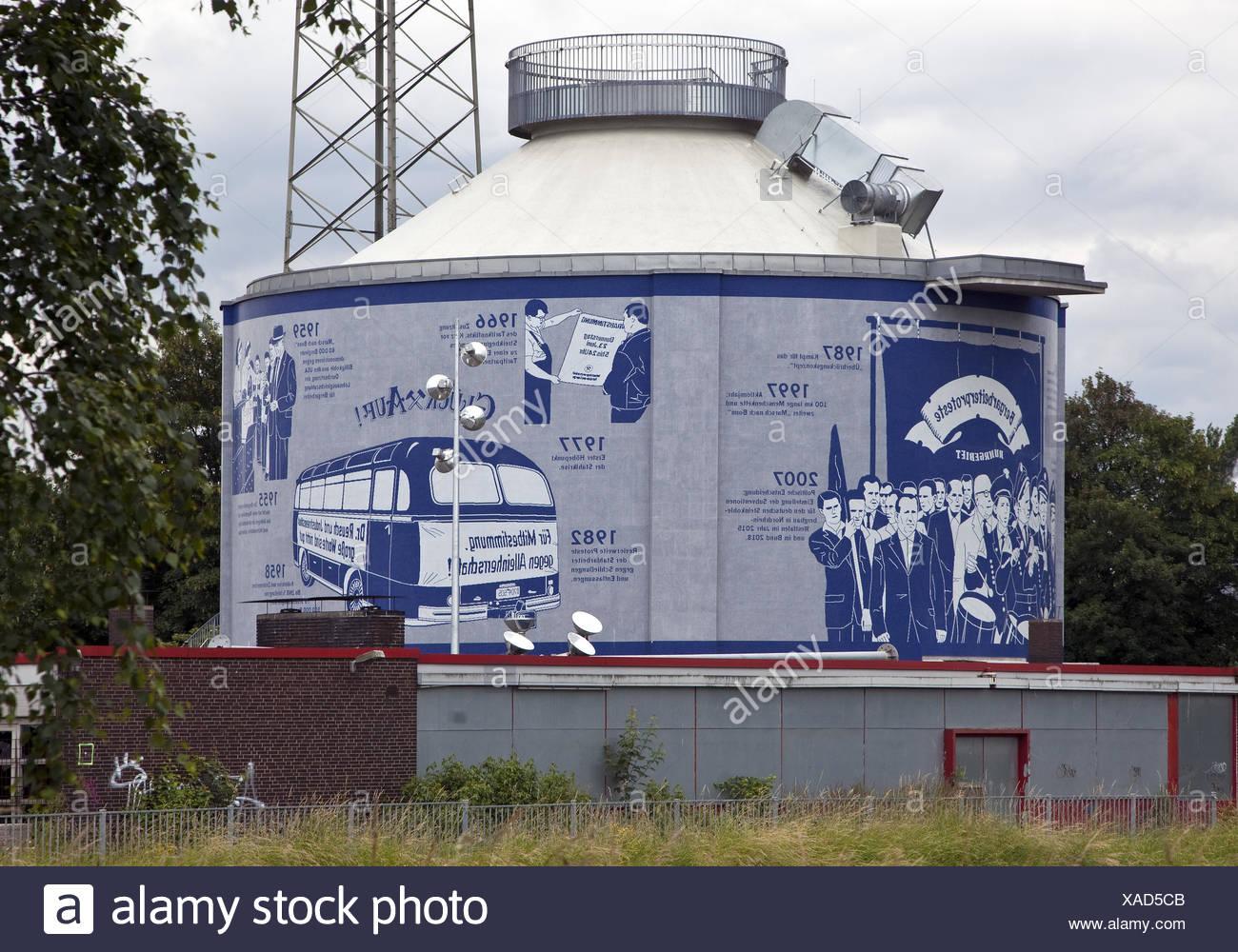 Mosaico de pared Emscherkunst, Herne, Alemania Imagen De Stock