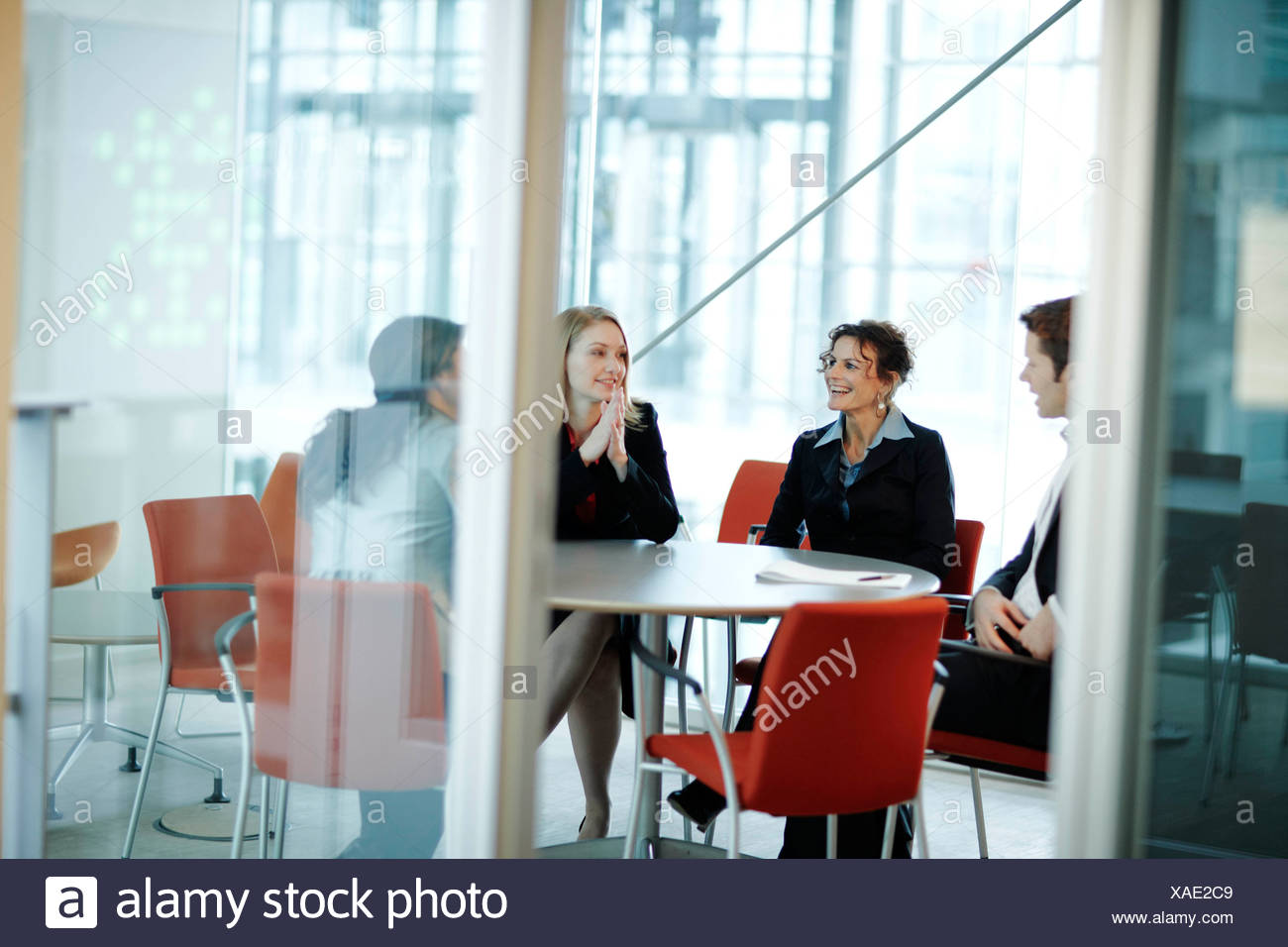 Socios de negocios en una reunión Imagen De Stock